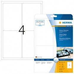 Etykiety błyszczące 4908, A4, 96 x 139,7 mm., papier błyszczący, 100 szt.