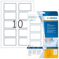 Etykiety 4591 materiałowe samoprzylepne, 80 x 50 mm, 100 szt.