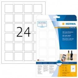 Etykiety QR samoprzylepne kryjące 9642, A4, 40 x 40 mm., papier biały nieprzezroczysty mat, 600 szt.
