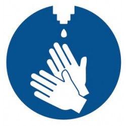 Naklejki informacyjne: dezynfekcja rąk, Herma 12928